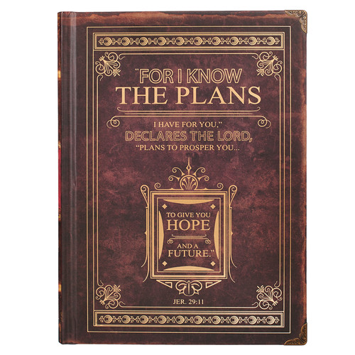 I Know The Plans Hardcover Journal with Metal Corners - Jer 29:11