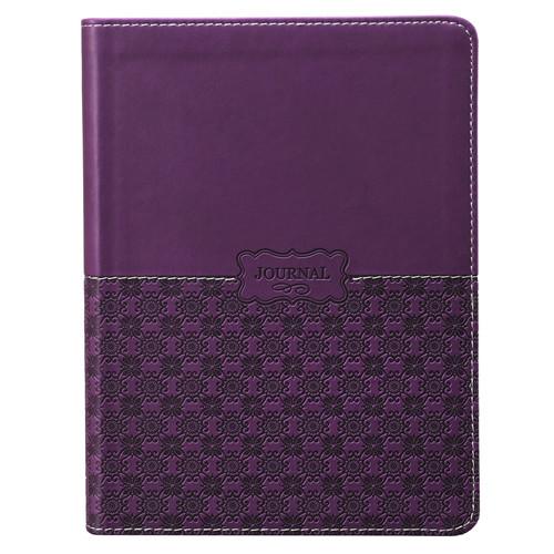 Classic LuxLeather Journal in Purple