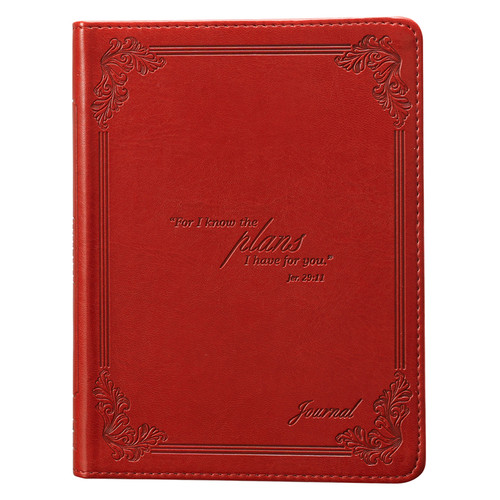 I Know the Plans - Jeremiah 29:11 Red Classic LuxLeather Journal