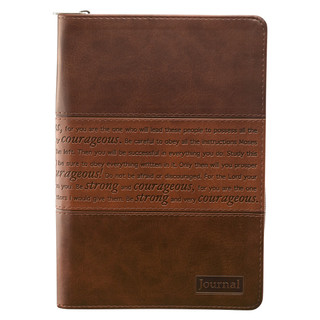 Brown: Strong and Courageous - Joshua 1:5-7 Journal