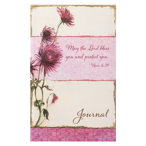 The Lord Bless you in Pink Floral Flexcover Journal