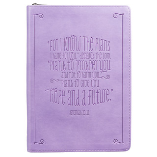 Lilac: I Know the Plans - Jeremiah 29:11 Journal