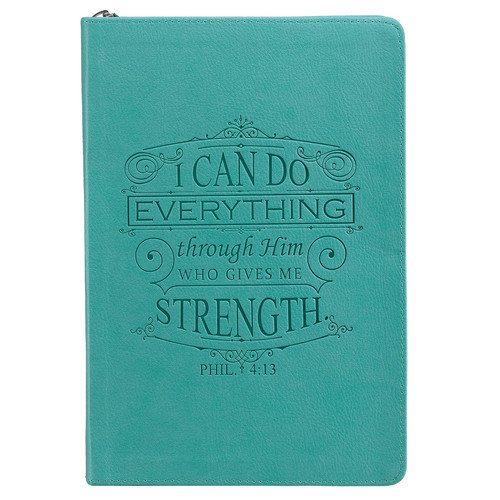 Turquoise: I Can Do Everything - Philippians 4:13 Journal