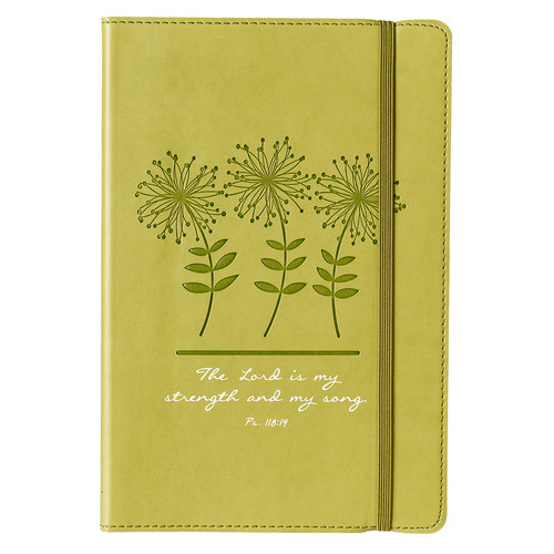 My Strength and Song - Psalm 118:14 Green Flexcover Journal