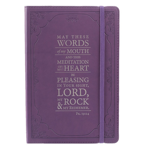 The Words of my Mouth - Psalm 19:14 Purple Flexcover Journal