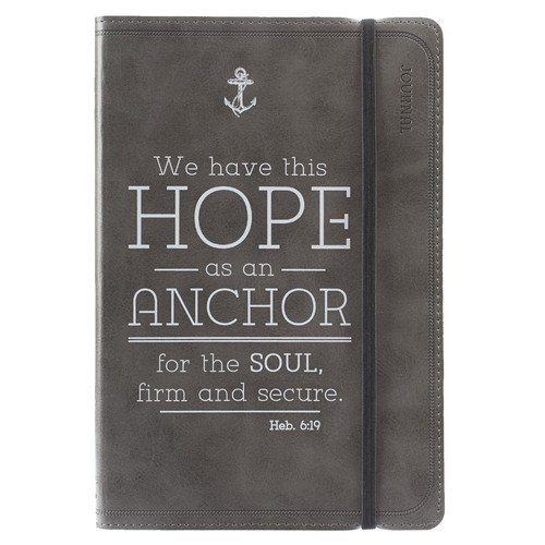 Hope is an Anchor - Hebrews 6:19 Pewter Flexcover Journal