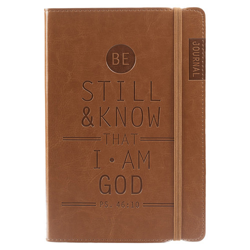 Be Still & Know - Psalm 46:10 Tan Flexcover Journal