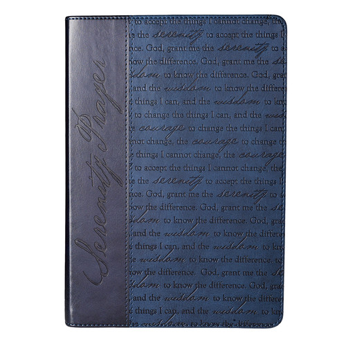 Classic LuxLeather Journal in Blue: Serenity Prayerl