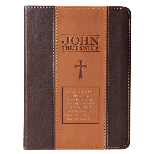 John 3:16 Two-Tone Classic LuxLeather Journal