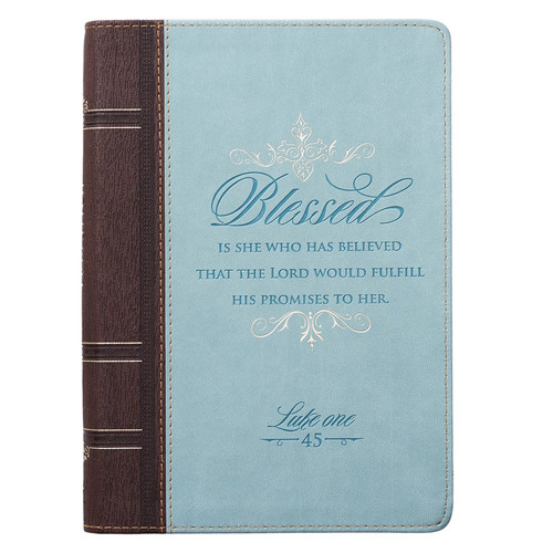 Blessed - Luke 1:45 Classic LuxLeather Journal