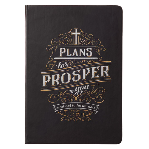 Plans to Prosper You Executive Hardcover LuxLeather Journal