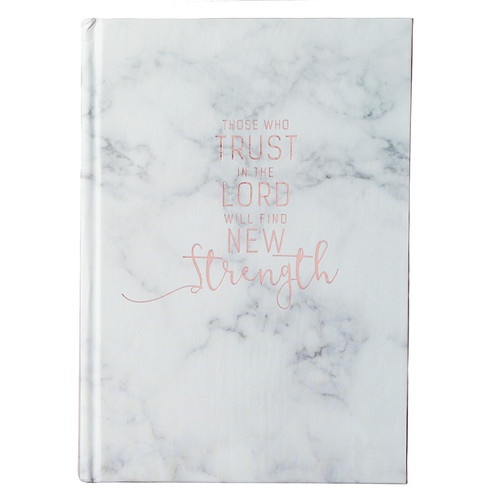 Those Who Trust in the Lord Hardcover Marble-look Journal- Isaiah 40:31