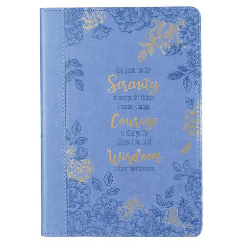 Serenity Prayer Blue Slimline Faux Leather Journal