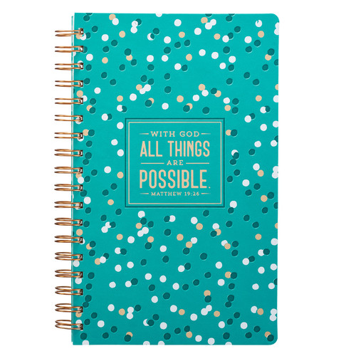 All Things are Possible with Confetti Design Wirebound Journal