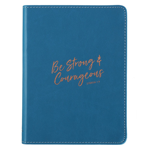 Be Strong & Courageous Handy-sized LuxLeather Journal - Joshua 1:9