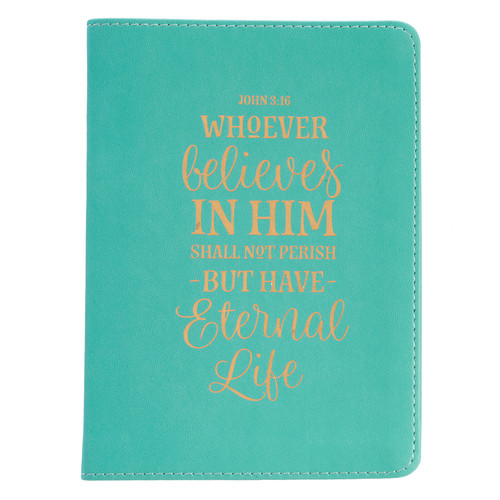 Eternal Life Teal LuxLeather Journal - John 3:16
