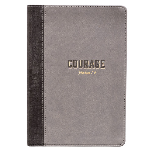 Courage Slimline LuxLeather Journal – Joshua 1:9