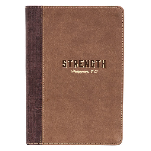 Strength LuxLeather Journal – Philippians 4:13