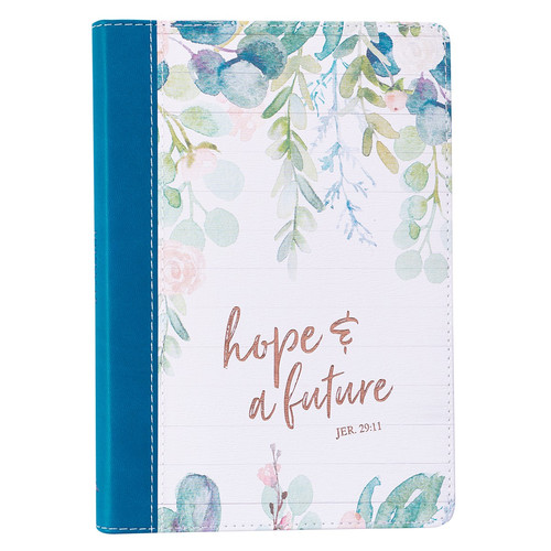 Hope and a Future Slimline Faux Leather Journal - Jeremiah 29:11