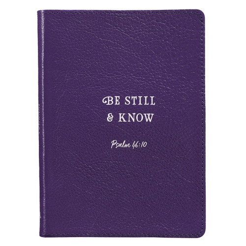 Be Still & Know Handy-sized Full-grain Leather Journal - Psalm 46:10