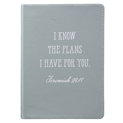 I Know The Plans Handy-Sized Full Grain Leather Journal - Jeremiah 29:11