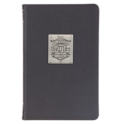 Blessed Is The Man Brown Full Grain Leather Journal - Jeremiah 17:7