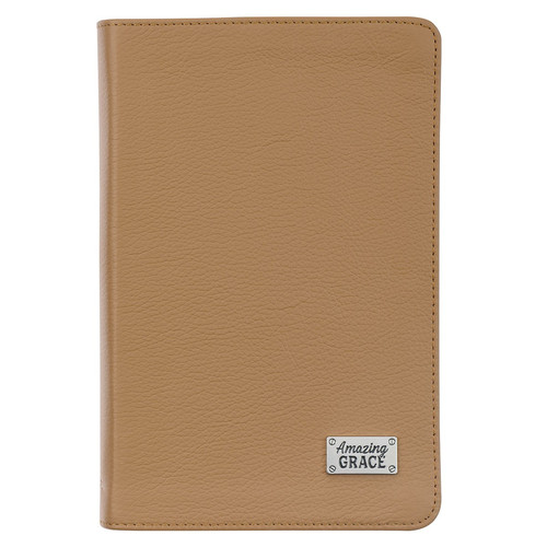 Amazing Grace Tan Full Grain Leather Journal