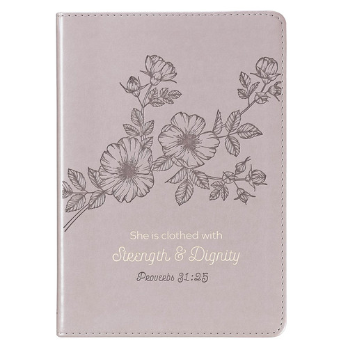Strength & Dignity Slimline LuxLeather Journal – Proverbs 31:25