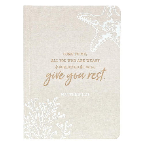 Give You Rest Hardcover Linen-look Journal - Matthew 11:28