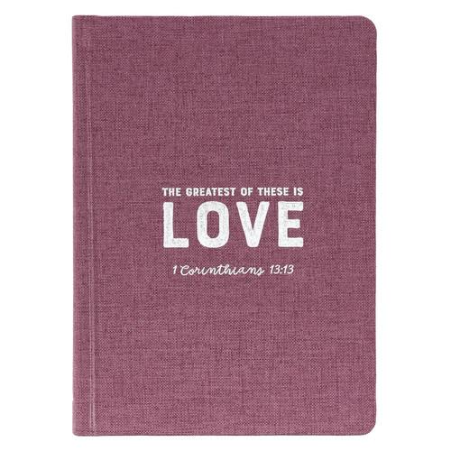 Love Hardcover Linen-look Journal - 1 Corinthians 13:13