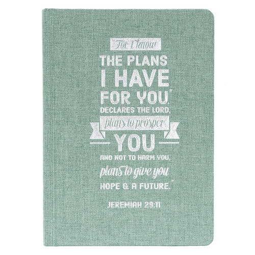 Plans Hardcover Linen-look Journal - Jeremiah 29:11