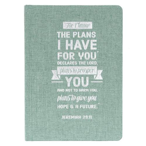 Plans Hardcover Linen-look Journal - Jeremiah 29:11
