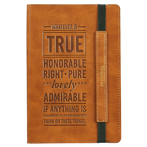 Whatever Is True Flexcover Dotted Journal with Elastic Closure – Philippians 4:8
