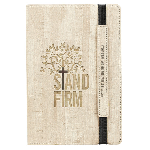Stand Firm Flexcover Dotted Journal with Elastic Closure – Luke 21:19