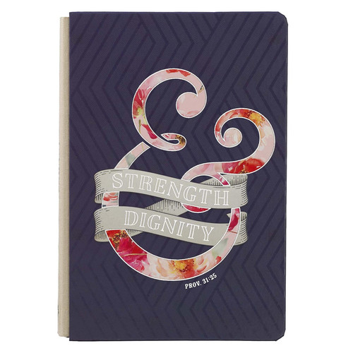 Strength & Dignity Quarter-Bound Hardcover Journal in Purple - Proverbs 31:25