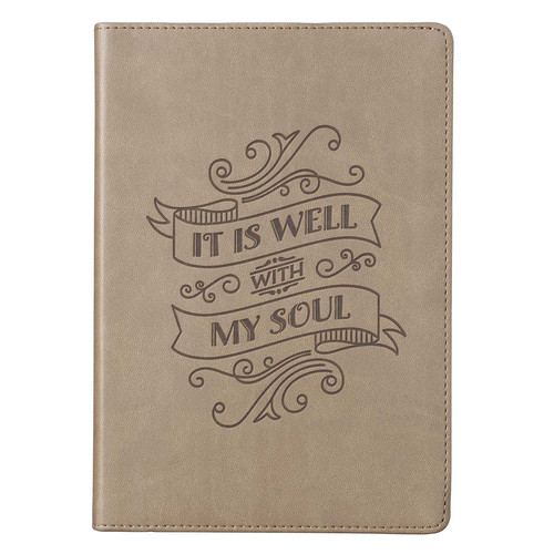 It Is Well With My Soul Brown Faux Leather Classic Journal
