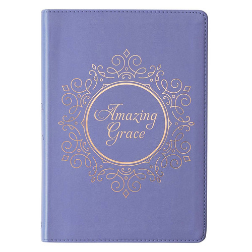 Amazing Grace Blue Faux Leather Classic Journal