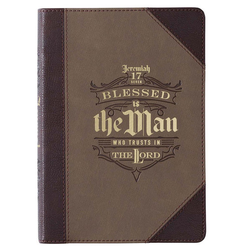 Blessed is the Man Faux Leather Classic Journal - Jeremiah 17:7
