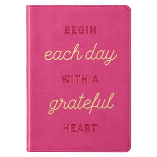 Grateful Heart Pink Faux Leather Classic Journal