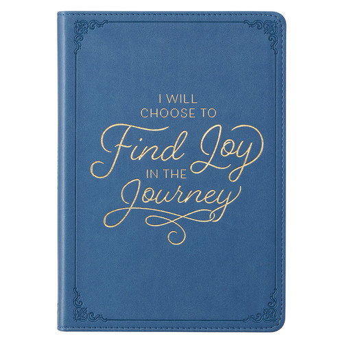 Joy in the Journey Purple Faux Leather Classic Journal