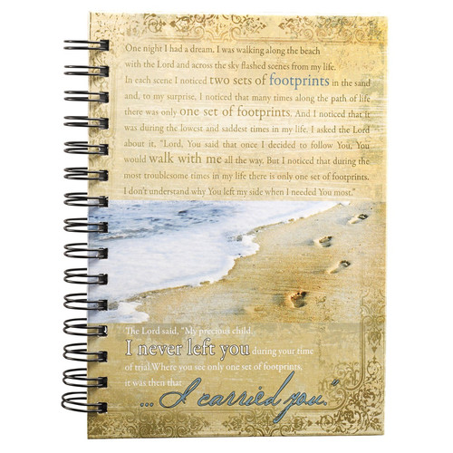 Footprints Large Hardcover Wirebound Journal