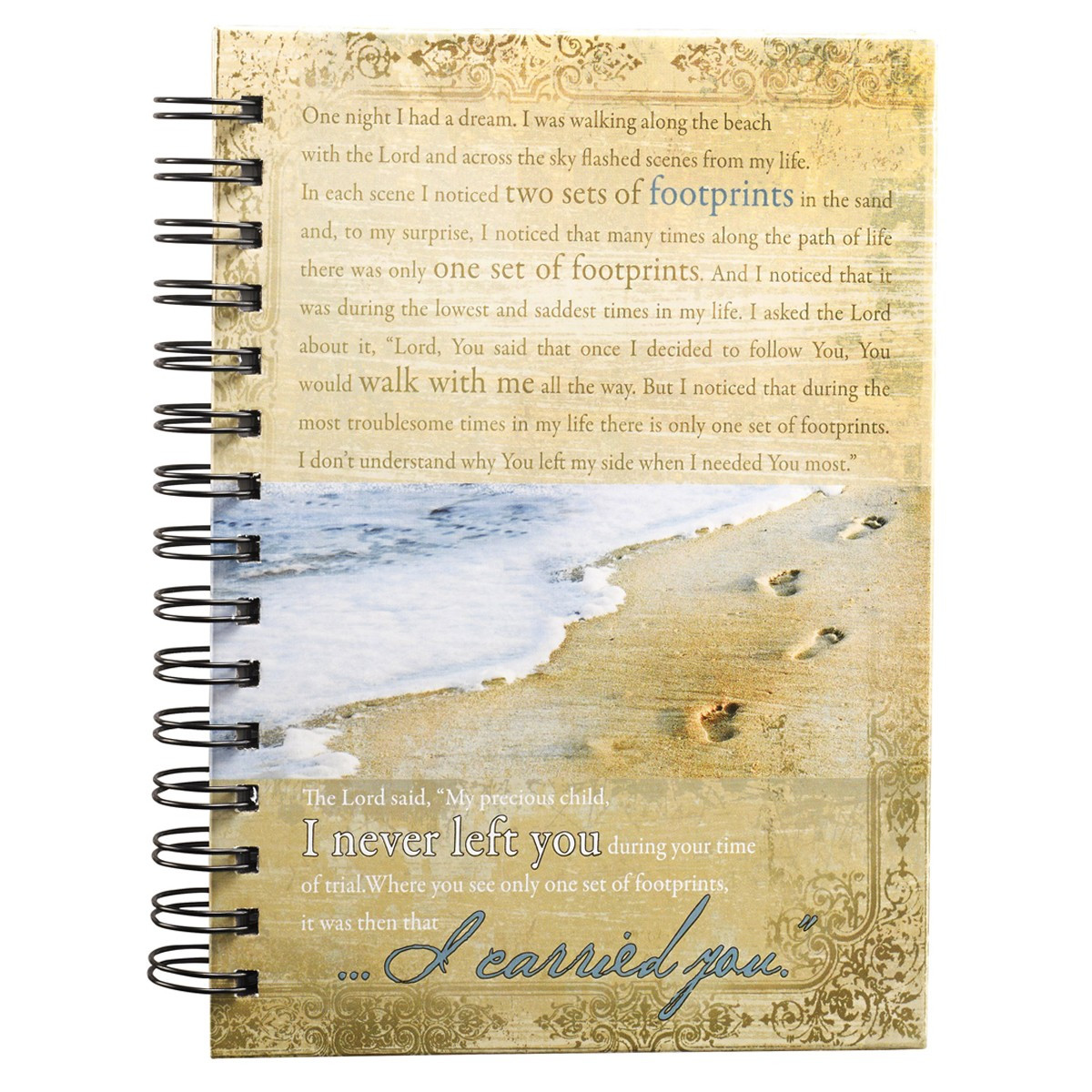 Footprints Hardcover Wirebound Journal
