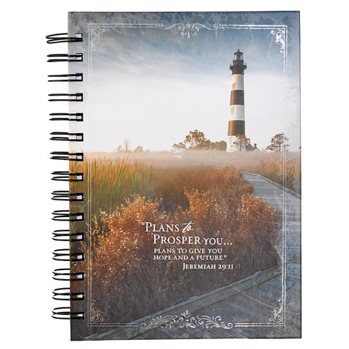 Lighthouse (Jer. 29:11) Hardcover Wirebound Journal