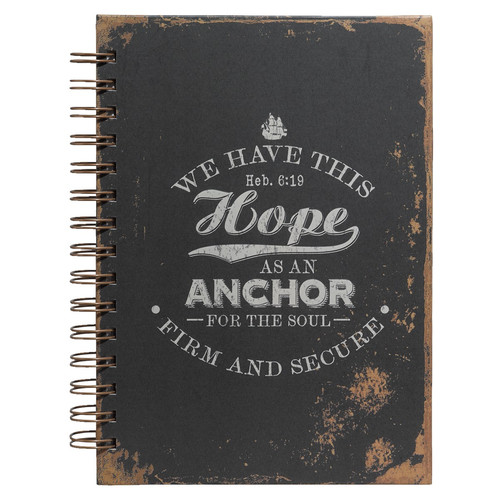 Hope As An Anchor (Heb 6:19 ) Large Hardcover Wirebound Journal