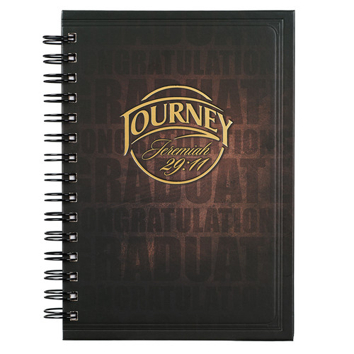 Journey Hardcover Wirebound Journal for Graduates - Jeremiah 29:11