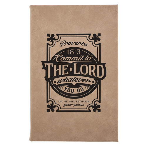 Commit to the Lord - Proverbs 16:3 Laser Engraved Journal