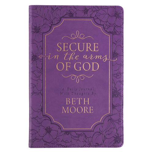 Secure In The Arms Of God Purple Faux Leather Guided Journal