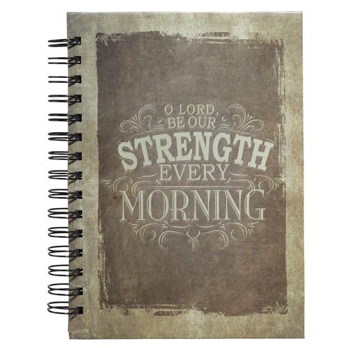 Strength (Isa 33:2) Vintage Graphic Hardcover Wirebound Journal