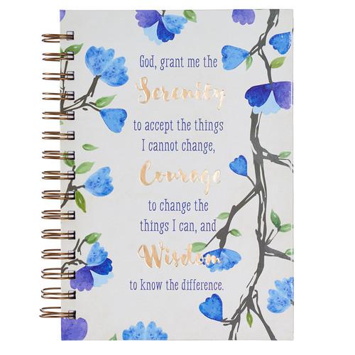 Watercolor Collection Serenity Prayer Hardcover Wirebound Journal