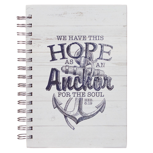 Hope as an Anchor Large Wirebound Journal